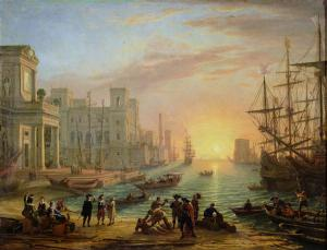 Sea-Port-at-Sunset-1639-xx-Claude-Lorrain