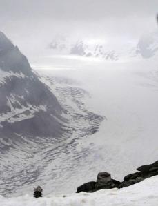 Glaciar de Aletsch+niebla