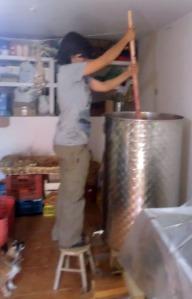 meciendo el vino